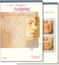 Sculptra packaging and promotional material