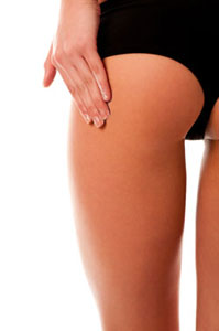 Image of a toned thigh area